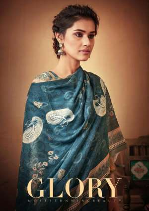 sargam prints Glory PURE PASHMINA 001-008 series 7960 + 5% Gst Extra regal look salwar suit catalog