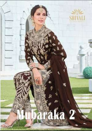 Shivali mubaraka vol 2 01-05 series 11495 + 5% Gst Extra heavy embroidered bridal wear dresses collection