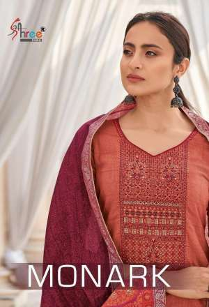 SHREE FAB MONARK 5101-5108 series 6600 COTTON EXCLUSIVE PRINT SALWAR SUIT CATALOG