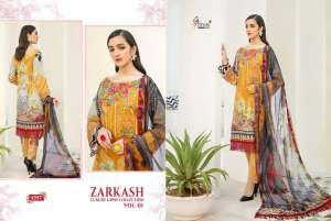 shree fab ZARKASH LUXURY LAWN COLLECTION VOL 01 WITH COTTON DUPATTA 1559