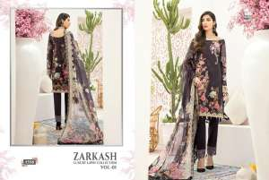 shree fab ZARKASH LUXURY LAWN COLLECTION VOL 01 WITH COTTON DUPATTA 1561