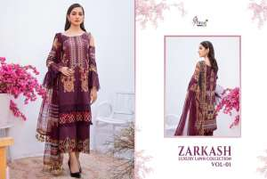 shree fab ZARKASH LUXURY LAWN COLLECTION VOL 01 WITH COTTON DUPATTA 1562