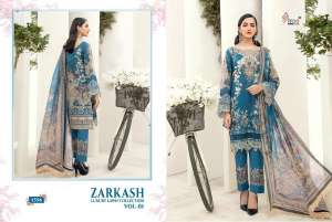 shree fab ZARKASH LUXURY LAWN COLLECTION VOL 01 WITH COTTON DUPATTA 1563