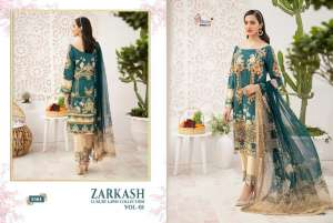 shree fab ZARKASH LUXURY LAWN COLLECTION VOL 01 WITH COTTON DUPATTA 1564