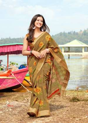 SR brands launch zarna 01-10 series 6600 + 5% Gst Extra kota linen saree new design concept