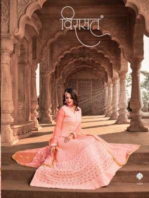stylishta virasat lucknowi 1051-1054 series 16940 + 5% Gst Extra festive look kurti catalog