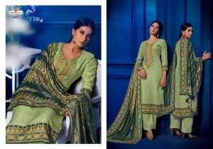 tunic house gulfam 85001-85006 series 5970 + 5% Gst Extra pashmina exclusive print salwar suit catalog