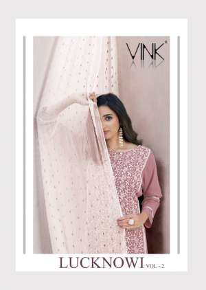 vink lucknowi 2 861-866 series 5700 + 5% Gst Extra attractive kurti with bottom catalog