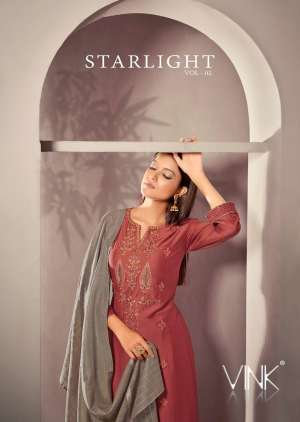 VINK starlight 2 kurti plazzo with dupatta 910