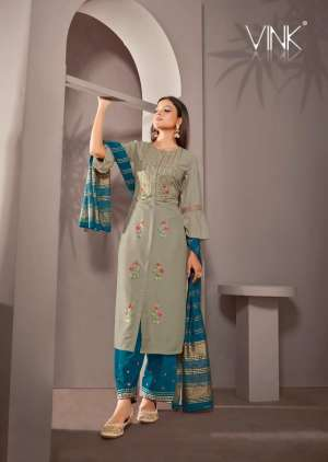 VINK starlight 2 kurti plazzo with dupatta 912