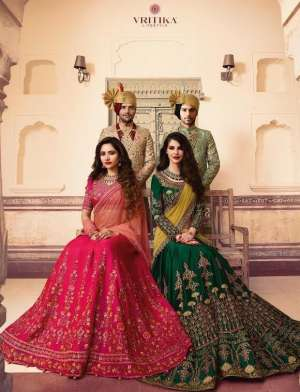 vritika lifestyle presents 901-909 series 48942 + 5% GST Extra bridal lehenga collection wedding lehenga wholesale