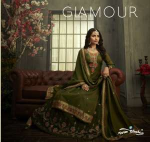 your choice glamour silk 3571-3574 series 7980 + 5% Gst Extra regal look skirt concept catalog
