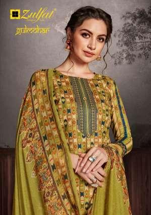 Zulfat gulmohar 001-010 series 4110 + 5% Gst Extra cotton printed designer dress Material supplier
