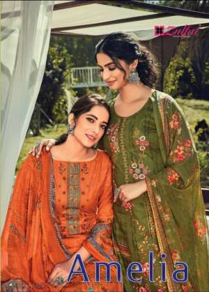 ZULFAT DESIGNER AMELIA 001-010 series 4650 + 5% Gst Extra COTTON EXCLUSIVE PRINT SALWAR SUIT CATALOG
