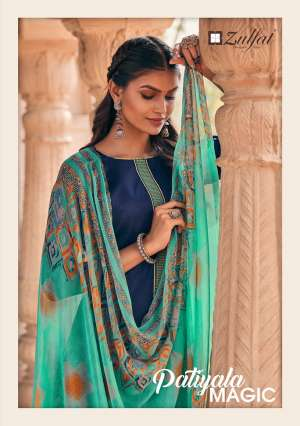 zulfat designer suits PATIALA MAGIC 338-000